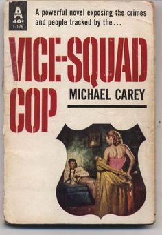 VICE SQUAD COP by Carey, rare US Avon #F176 crime sleaze gga pulp vintage pb