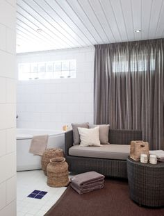 If the bathroom was big enough, this kind of corner would be great .. but how often would it get used?