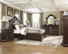 bedroom sets by ashley furniture - bedroom interior decoration ideas Rooms To Go Bedroom, Old World Bedroom, Buy Bedroom Furniture, Cheap Furniture, Modern Bedroom, Bedroom Ideas, Ashleys Furniture, Bedroom Suites, Bedroom Decor