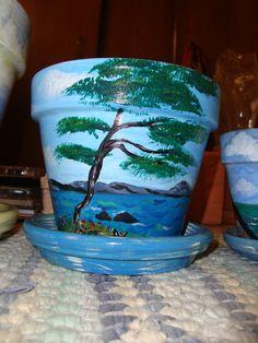 Ocean tree flower pot.  ~by Cheryl Henderson Harry