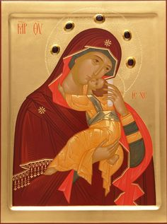 Mother of God Leaping For Joy -  Hand-Painted Icon from the Workshop of St…