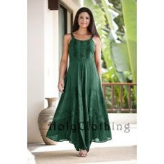 mom bday dress 2 x green jade or black   Riona Bustier Corset Empire Gypsy Peasant Boho Maxi Sun Dress - Dresses