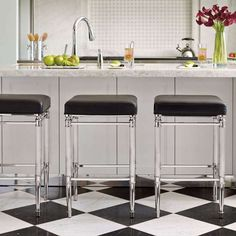 Bradenton Backless Bar and Counter Stools - 18 inches square & Gray Kitchen Island with Blue Velvet Tufted Counter Stools ... islam-shia.org