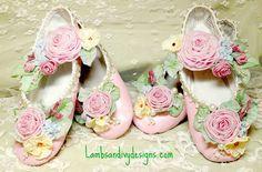 Fairy Princess Ballerina Roses Marie Antoinette Ribbonwork  Work Flower Girl Wedding RESERVED. $187.80, via Etsy.