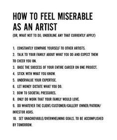 How to feel miserable as an artist - John Baldessari
