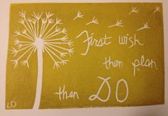 lino block stamps - I like the dandelion idea
