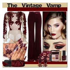"""""""Holiday Party Makeup - The Vintage Vamp"""" by yours-styling-best-friend ❤ liked on Polyvore featuring beauty, Jimmy Choo, Glint, Rebecca Minkoff, Dorothy Perkins, Aquazzura, Charlotte Tilbury, Tartan + Twine, Emilio Pucci and Bobbi Brown Cosmetics"""