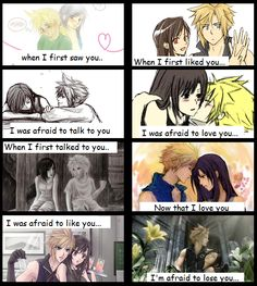 The Love Story of Cloud and Tifa by chiix04.deviantart.com on @deviantART