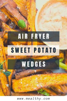 air fryer and recipes Air Fryer Recipes Breakfast, Air Fryer Recipes Easy, Healthy Food Options, Healthy Eating Recipes, Healthy Life, Easy Weeknight Meals, Quick Easy Meals, Sweet Potato Wedges, Side Dish Recipes