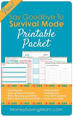 Did you see this HUGE 40-page packet of Home Management Printables? Click through to grab your FREE copy!