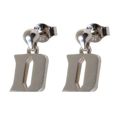 Wolverines Block M Logo Dayna Designs University of Michigan Dangle Earrings Sterling Silver Jewelry Small for Women//Girls