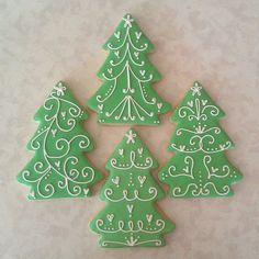 76 Best Christmas Tree And Wreath Cookies Images On Pinterest In