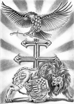 turul tattoo | Transylvanizmus shared Tattoo Designe/Tattoo Minták 's photo . Biker Tattoos, Warrior Tattoos, Dad Tattoos, Tattoos For Guys, Hawk Tattoo, I Tattoo, Hungarian Tattoo, Hungary History, Tattoo No Peito