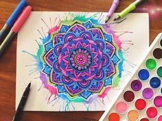 WEBSTA @ floral.art - Colourful mandala ❤️This was such a fun mandala to create! I hope you guys like itIf you haven't already add me on snapchat- floral.artThanks everyone, have an awesome day!Also if you haven't already checkout the link in my bio to have a look at my custom designed skateboardsAlso tell me what you think about this piece below?❤️