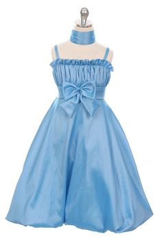 http://childrensdressshop.com/home/575-cornflower-blue-tafetta-bubble-shell-dress.html  popular cornflower blue flower girl dress