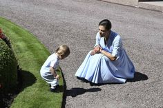 Cute prince Oscar and his mother,Crown princess Victoria