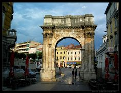 Croatia Picture: Ancient triumphal arch (Arch of...
