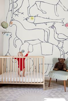 so in love with this large scale nursery #wallpaper, but can't find anywhere to buy that will ship to USA.