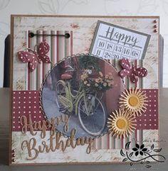 Nicolette's kaarten: Happy birthday Decorative Plates, Happy Birthday, Challenges, Frame, Blog, Cards, Sisters, Sketch, Inspiration