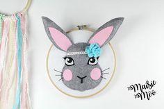 40% OFF Rabbit Nursery Art Pattern DIY Nursery Art Boho