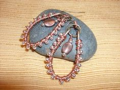 Copper and silver beaded boho wire wrapped by queenmabdesigns, $28.00