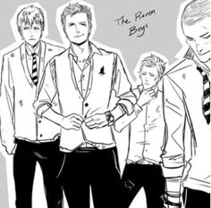 The Raven Boys from the Raven Cycle by Maggie Stiefvater. Ronan is perfection <3