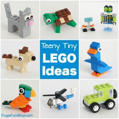 Frugal Fun For Boys and Girls - Engaging activities for kids of all ages. Lego Projects, Projects For Kids, Minecraft Lego, Minecraft Skins, Minecraft Buildings, Lego Autos, Mini Puppies, Lego Mosaic, Lego Animals