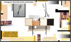 Visit WonderWood at PAN Amsterdam Art Fair, Vintage Furniture, Amsterdam, Dutch, Modern Art, Yellow, Antiques, Design, Dutch Language
