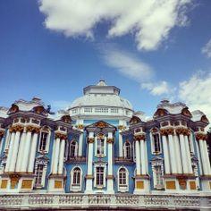 Tsarskoe Selo, um complexo de jardins e palácios que foi de Catarina I.