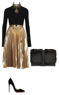 """Untitled #110"" by thabile-zungu on Polyvore featuring Donna Karan, A.L.C., Christian Louboutin, Sam Edelman and Chanel"