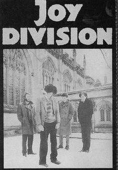 """Post punk, new wave band with an ironic name. """"Love Will Tear Us Apart"""" was one of their most commercially successful songs, but it was about Curtis' crumbling marriage. The title was a reference to, and antithesis of, the perky pop song """" Joy Division, Ian Curtis, New Wave, Rock Posters, Band Posters, Pop Rock, Rock And Roll, Punk Poster, The Wombats"""