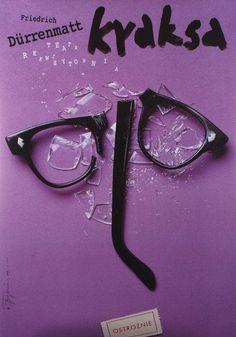 Traps / Die Panne / Kraksa - Friedrich Dürrenmatt  Original Polish theater poster  designer: Tomasz Boguslawski  year: 2003  size: B1