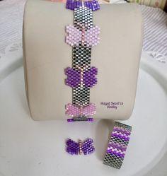 Miyuki, delica, peyote, bracelet, boncuk, bileklik, takı, jewelry, butterfly, kelebek