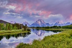 Early Morning at Oxbow Bend Grand Teton National Park - Wyoming What A Wonderful World, Beautiful World, Beautiful Places, Amazing Places, Simply Beautiful, Grand Teton National Park, National Parks, The Mountains Are Calling, Places Around The World