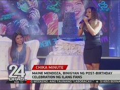24 Oras: Maine Mendoza, binigyan ng post-birthday celebration ng ilang fans - WATCH VIDEO HERE -> http://philippinesonline.info/aldub/24-oras-maine-mendoza-binigyan-ng-post-birthday-celebration-ng-ilang-fans/   Subscribe to the GMA News and Public Affairs channel:  Visit the GMA News and Public Affairs Portal:  Connect with us on: Facebook: Twitter:  Video credit to GMA News YouTube channel