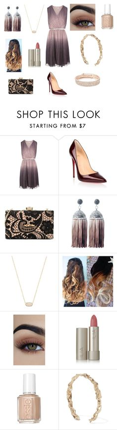 """Untitled #1112"" by annemarie-robinson on Polyvore featuring Christian Louboutin, Love Moschino, Kendra Scott, Ilia, Essie, Valentino and Anne Klein"