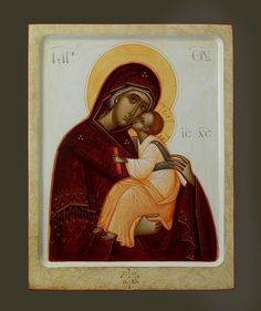 Theotokos by Gabriel Toma Chituc Religious Icons, Religious Art, Mother Mary, Mother And Child, Divine Light, Byzantine Art, Orthodox Icons, Blessed Mother, Virgin Mary