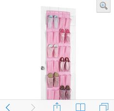 I have 4 girls and they have lots of hair and hair accessories. We use an over the door shoe organizer like this to hold all of our hair stuff.