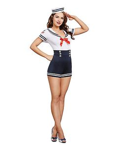 Adult Seafaring in Style Sailor Costume - Spirithalloween.com …