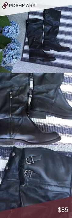 Vince Camuto leather tall boots Amazing condition. Up to knee Vince Camuto Shoes Over the Knee Boots