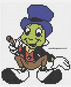 Billedresultat for beads pinocchio Disney Cross Stitch Patterns, Cross Stitch For Kids, Counted Cross Stitch Patterns, Cross Stitch Charts, Cross Stitch Designs, Disney Stitch, Beaded Cross Stitch, Cross Stitch Embroidery, Stitch Character