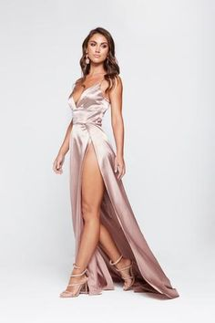 A&N Luxe Tiffany Satin Gown – Mauve - Mvagustacheshire Mauve Prom Dress, Bodycon Prom Dresses, Long Satin Dress, Prom Dreses, Satin Gown, Satin Dresses, Ball Dresses, Sexy Dresses, Outfits