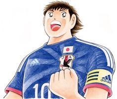 """Captain Tsubasa / キャプテン翼 : """"Samurai Blue"""" Japan : 2014 FIFA World Cup Brazil : #WorldCup #SamuraiBlue"""