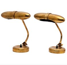 Paavo Tynell; Brass Table Lamps for Taito Oy, 1950s.