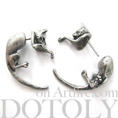 kitty-cat-animal-fake-gauge-earrings