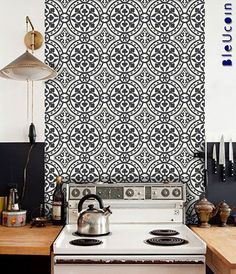 floor tile stickers vinyl decal waterproof removable for kitchen