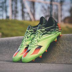 0dab49072333 Adidas Messi 15.1 (2016 Neon Green) Messi Signature, Uefa Champions League,  Champs