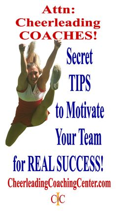 Would you love some GREAT TIPS to Motivate Your Team? Join the #1 Cheerleading Coaching Resource TODAY at CheerleadingCoachingCenter.com
