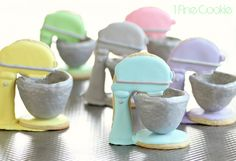 Cute 3D Stand Mixer Cookies by 1 Fine Cookie