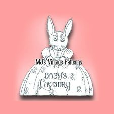 Bunny Baby's Laundry Bag Embroidery ~ a Vintage Pattern; 1943 Pattern